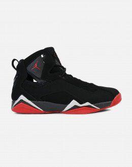 buy popular b1cb5 c0c17 Jordan True Flight (Black Gym Red-Metallic Silver)