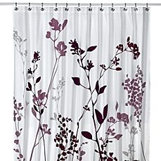 Image Of Reflections Purple Fabric Shower Curtain