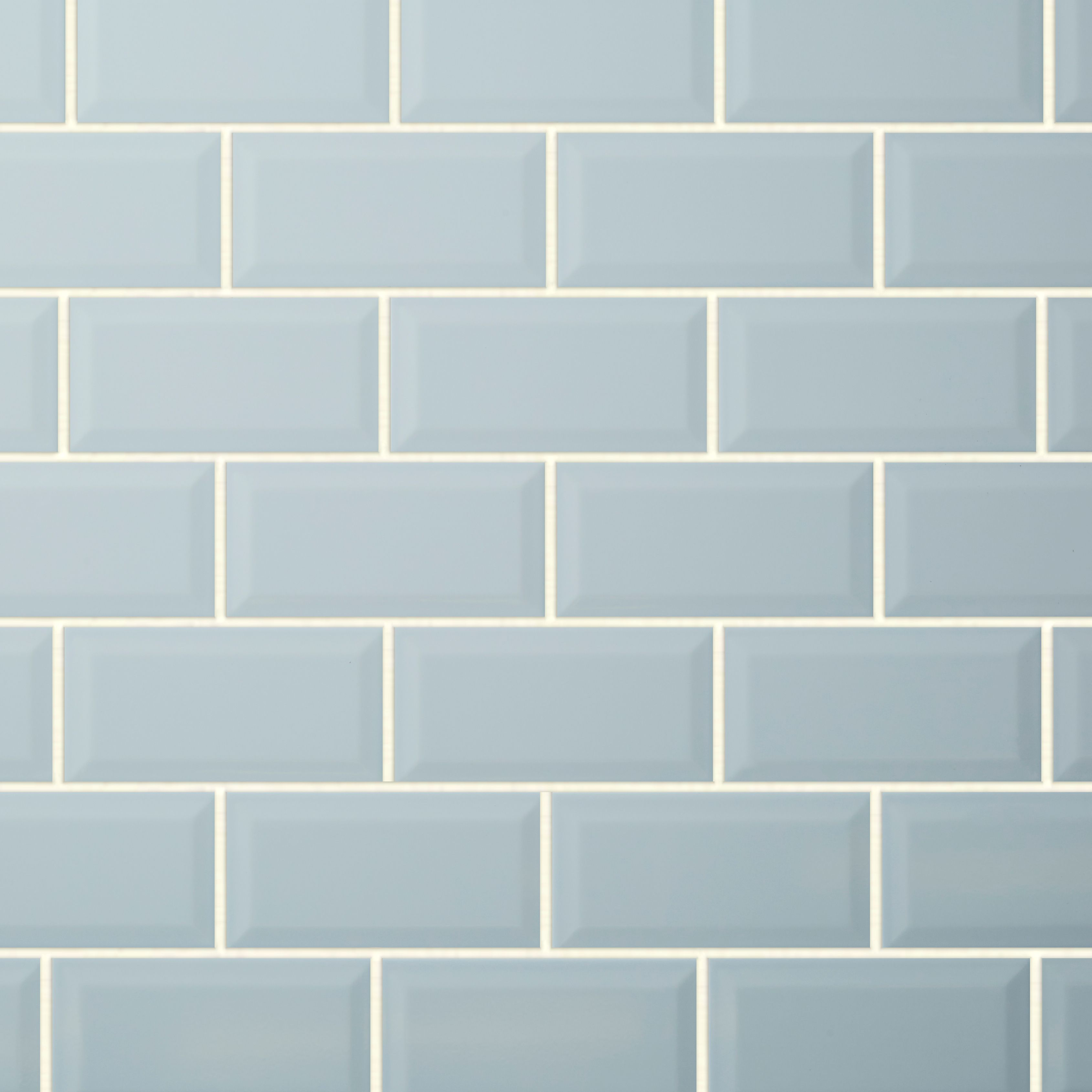 Trentie Blue Gloss Ceramic Wall tile, Pack of 40, (L)200mm (W)100mm ...