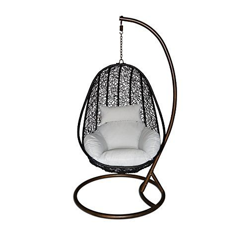 ucharge outdoor wicker swing chair hanging chair hammock with