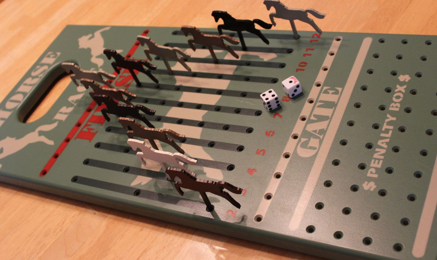 Horse Race Game (With images) Horse race game, Wooden games