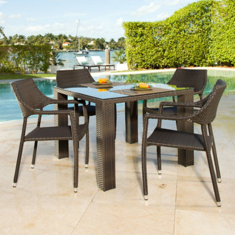 source outdoor tuscanna st tropez all weather wicker patio dining rh pinterest ch