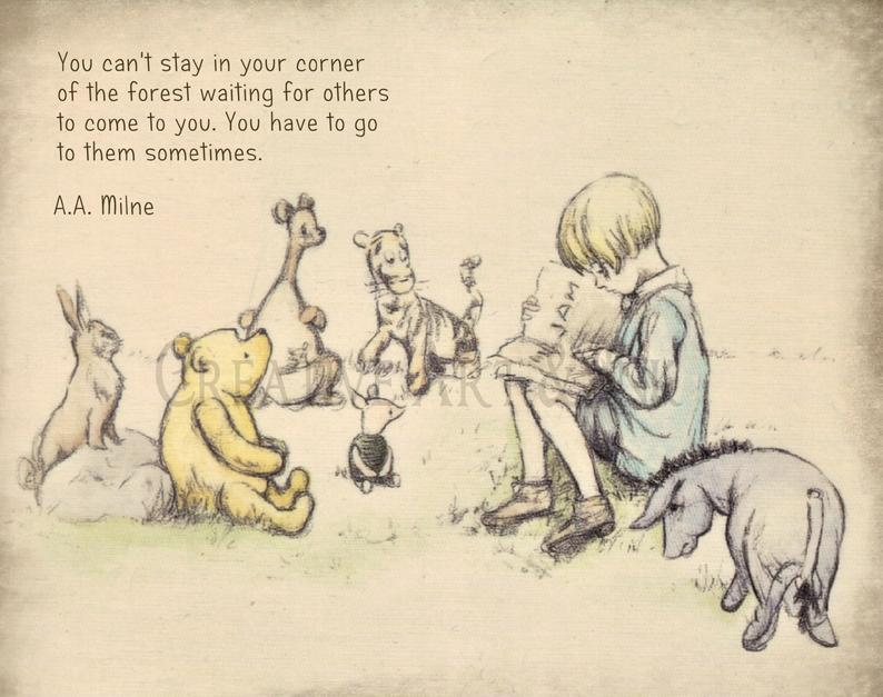 Classic Pooh Pooh Nursery Pooh Illustration Pooh Drawing Etsy Winnie The Pooh Drawing Winnie The Pooh Nursery Winnie The Pooh