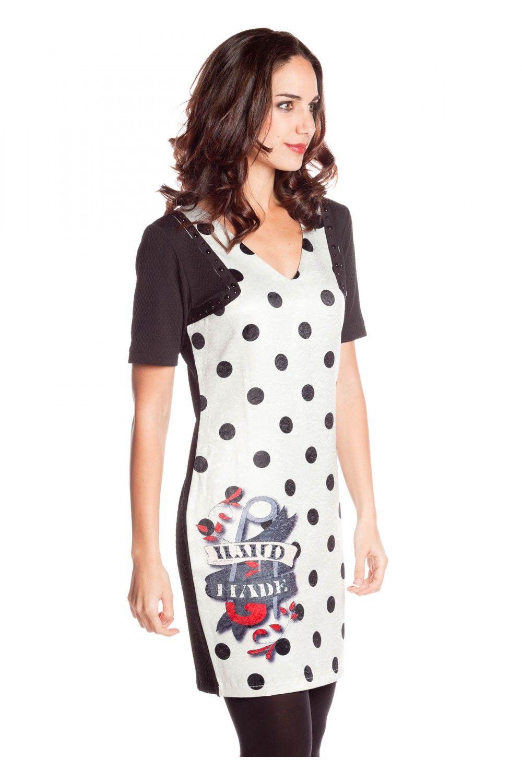 129032d99e6 Vestido cuello pico inspiración pin-up - Vestidos Mujer
