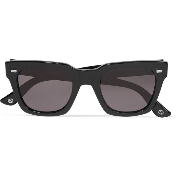 a31ce3288b8 Gucci Square-frame acetate sunglasses (£215) ❤ liked on Polyvore featuring  accessories
