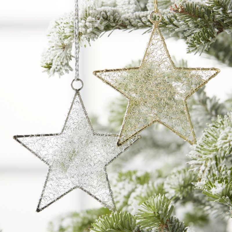Tinsel Star Christmas Tree Ornaments Crate And Barrel Steampunk Christmas Christmas Tree Ornaments Star Ornament