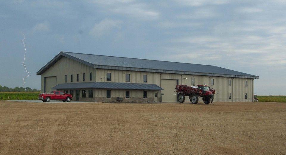 This Hybrid farm shop was built for TriK Farms of