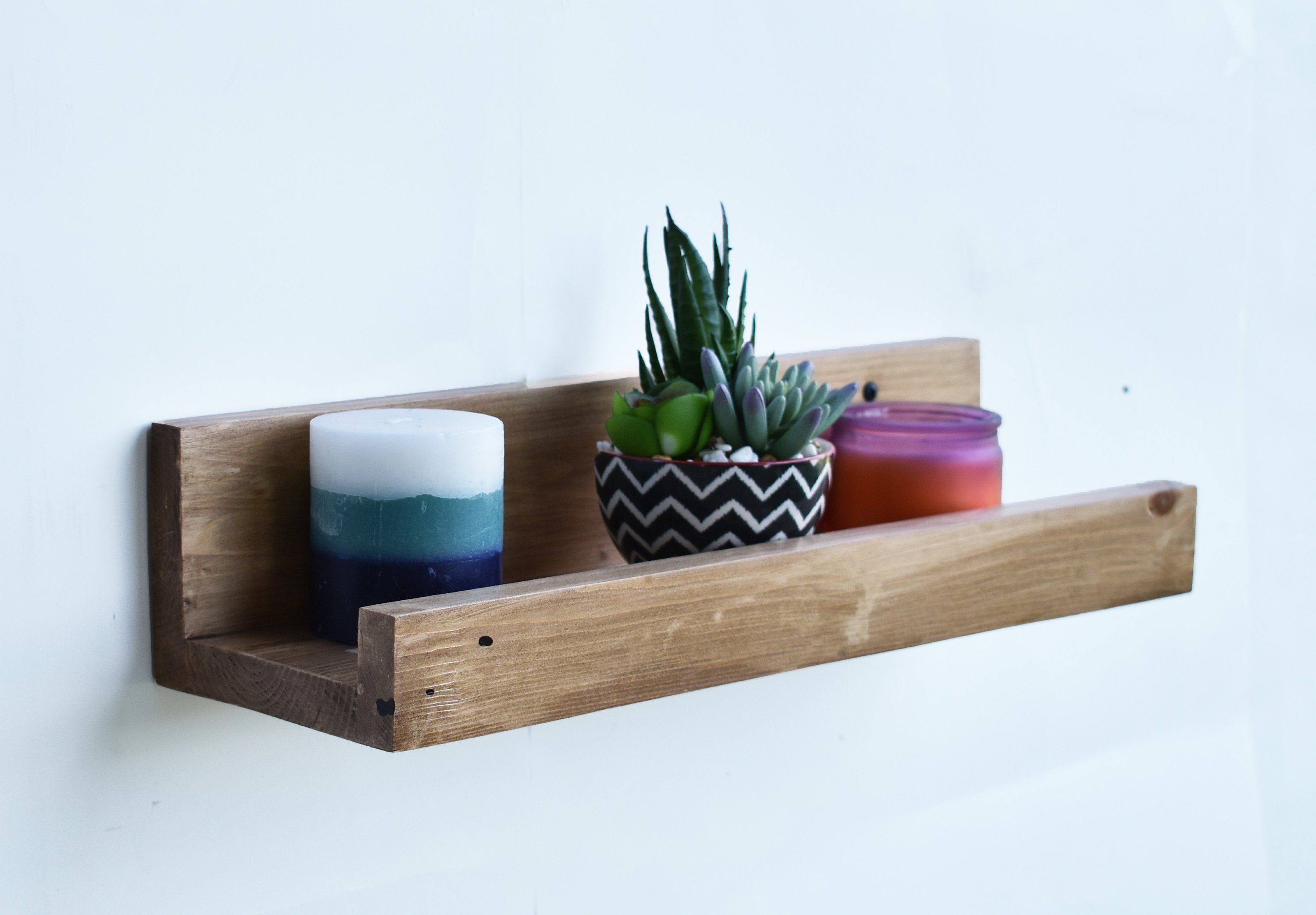 floating shelf picture ledge wall mounted shelves great for space rh pinterest com