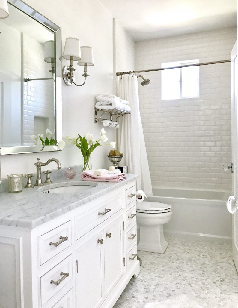 view bathroom ideas%0A Master Bathroom Inspiration  The Beauty of White Marble Tile