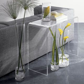 Charmant Clear Acrylic Console Table