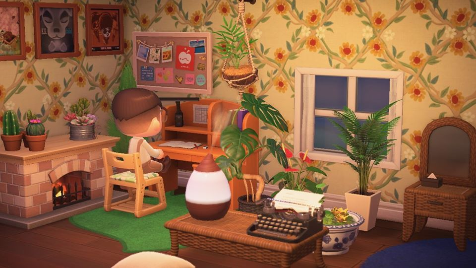 Cozy Study Corner Animal Crossing Interior Design Animals New Animal Crossing