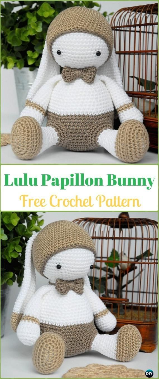 Amigurumi Crochet Big Lulu Papillon Bunny Free Pattern - Crochet ...