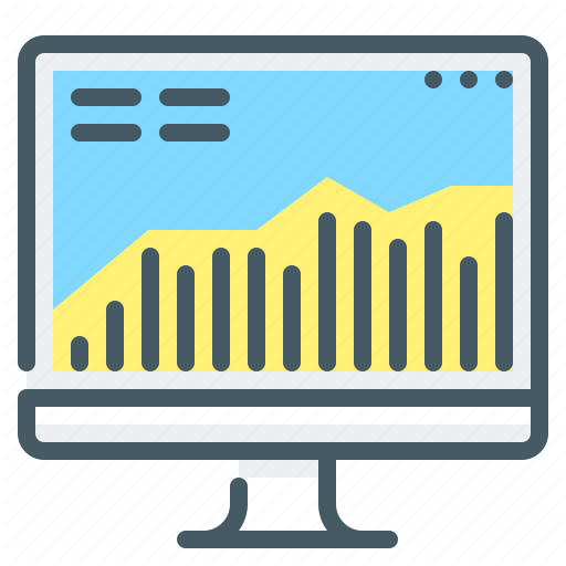Chart Market Monitor Stock Icon Download On Iconfinder Stock Icon Business Icon Icon
