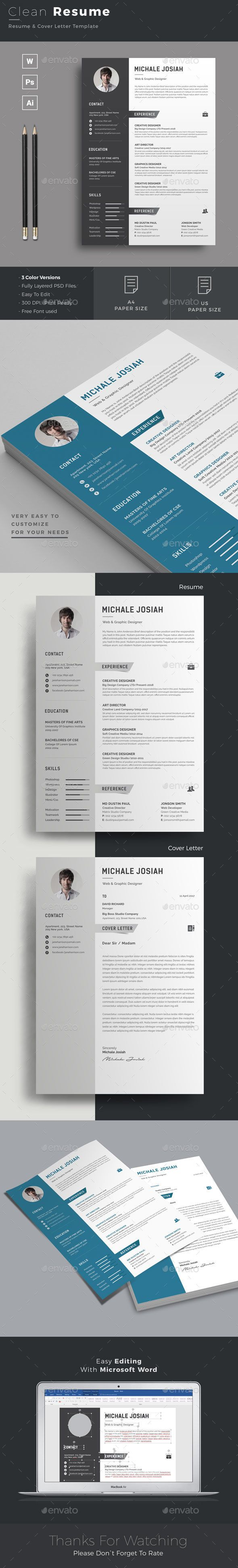 making resume format%0A  Resume  Resumes Stationery Download here  https   graphicriver net