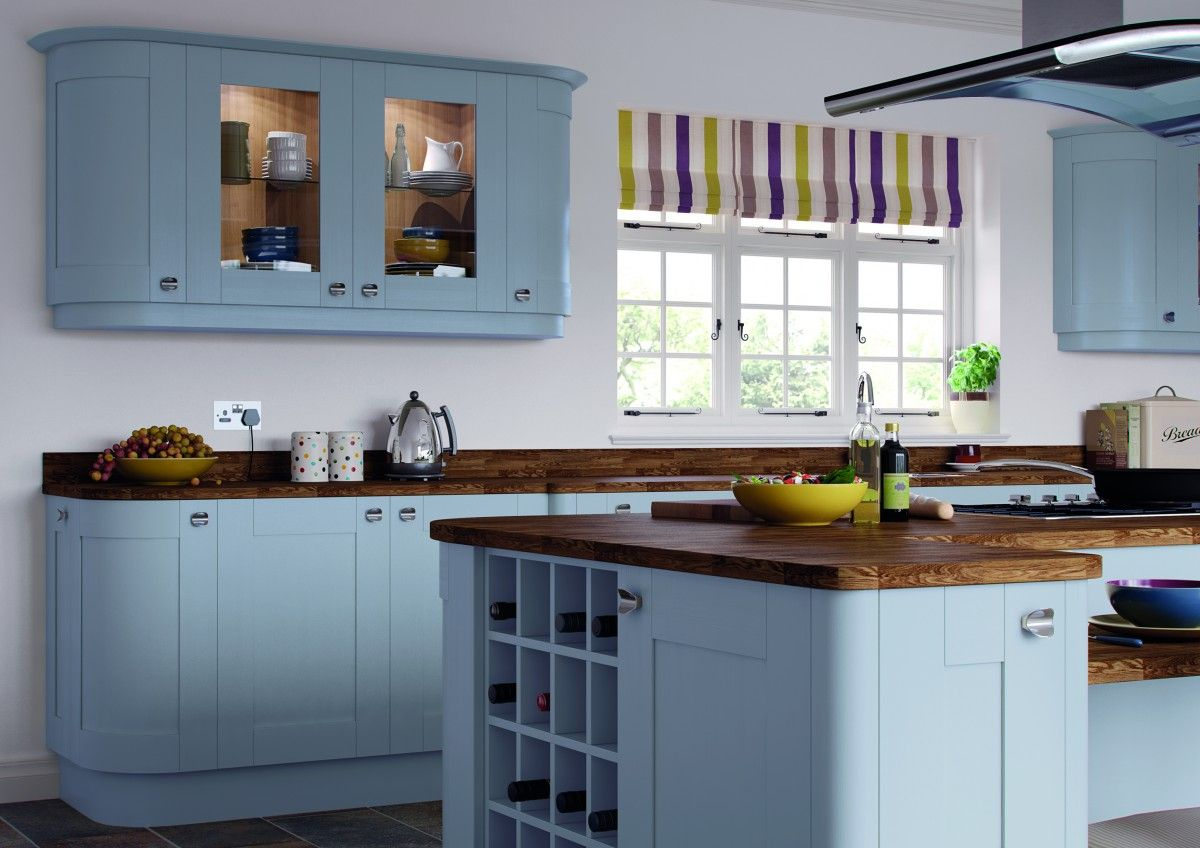Duck Egg Roma Shaker Painted Kitchen Cupboard