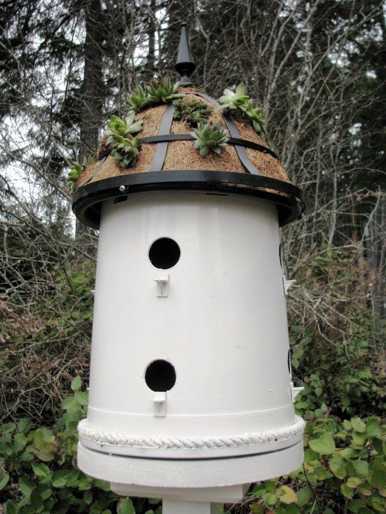 Bird condominium made with a 5 gallon