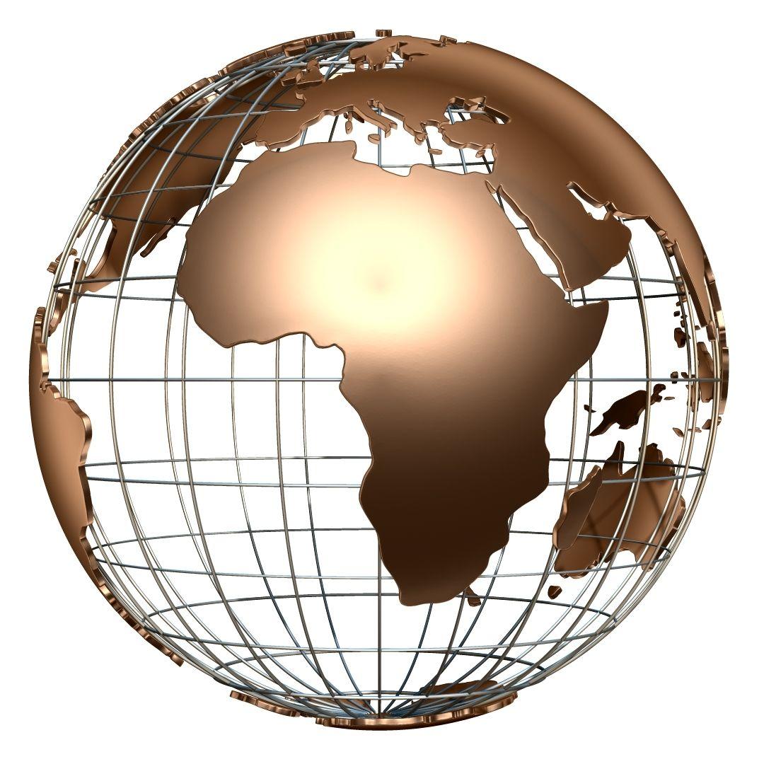 Earth Globe Wire 3d Model Earth Globe America Europe Asia World