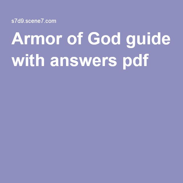 Priscilla Shirer S Armor Of God Guide With Answers PDF
