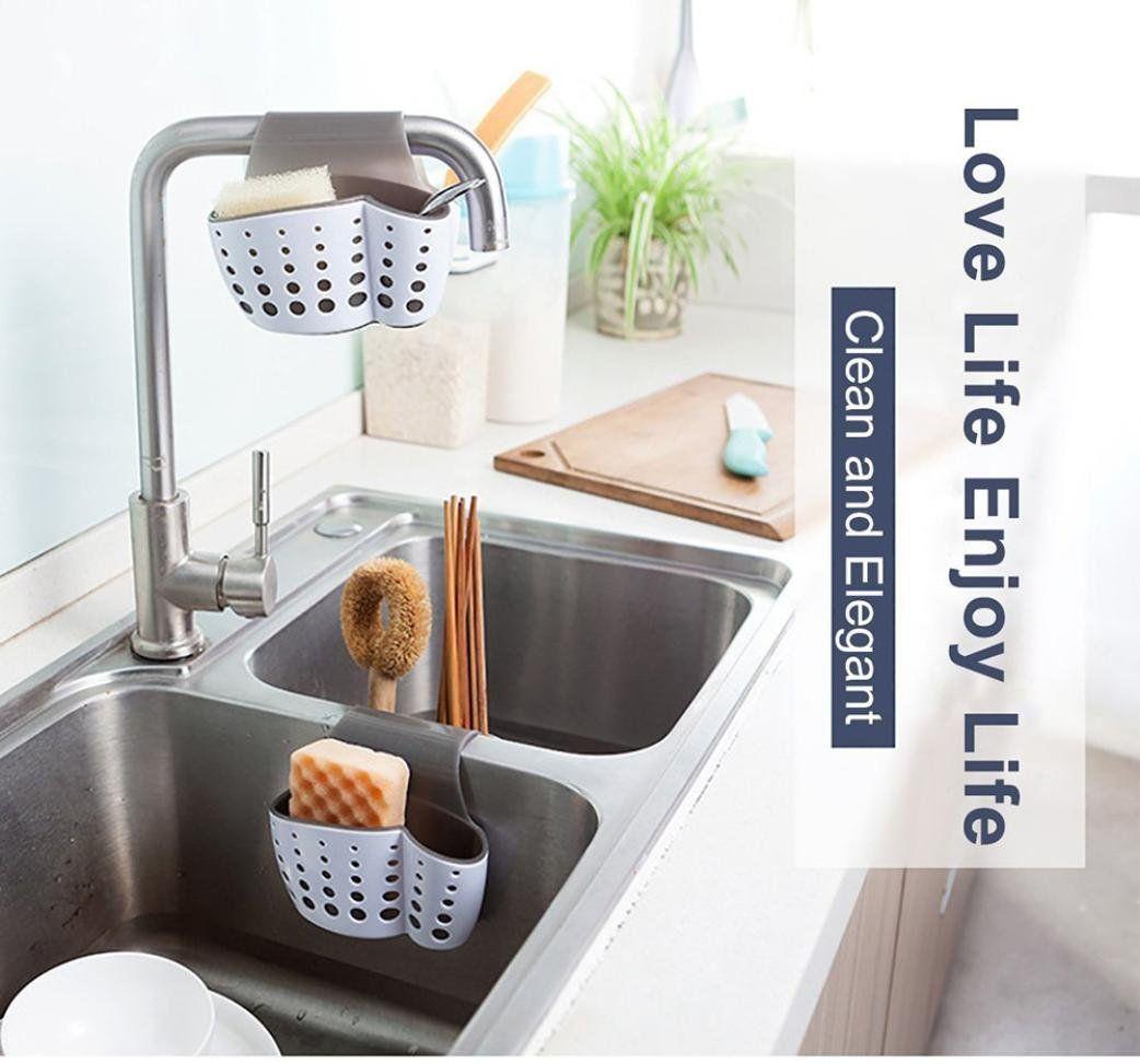 yjydada new sponge holder sink caddy soap holder for kitchen plastic rh in pinterest com