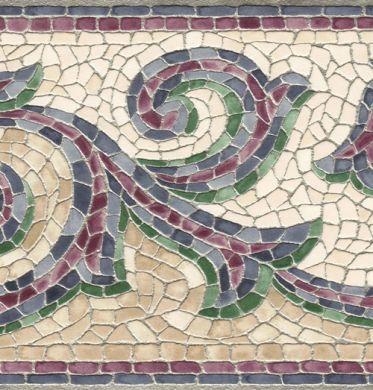 Mosaic Scroll Border Mosaic Art Wallpaper Freemotion Quilting