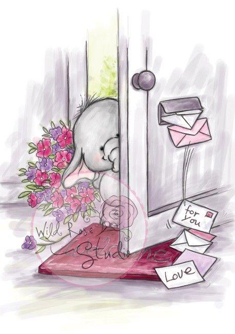 Wild Rose Studio Clear Stamp Set - Bella at Door | Buy Wild Rose
