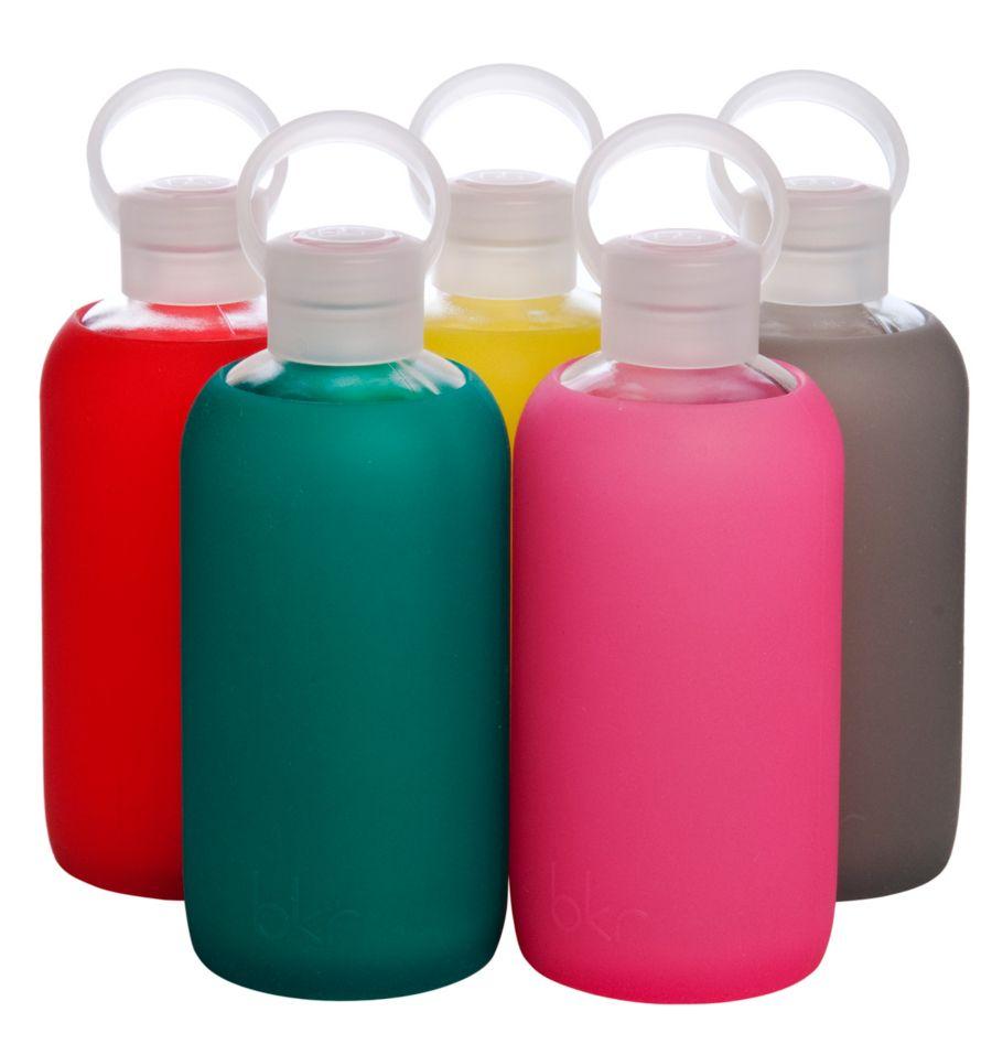 Bkr glass water bottle for the plane from holt renfrew