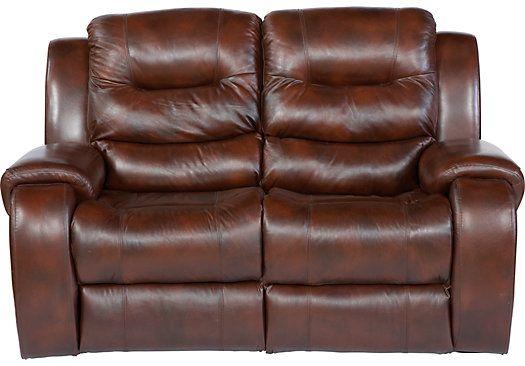 verano dark burgundy blended leather reclining loveseat living rh pinterest com