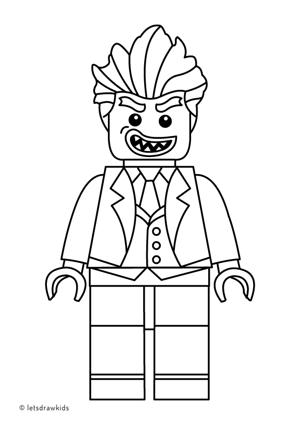 Coloring page for kids lego joker from the lego batman movie