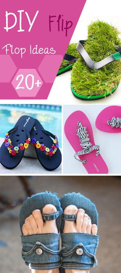 20+ DIY Flip Flop Ideas - These are so pretty! It is such a great summer fun!