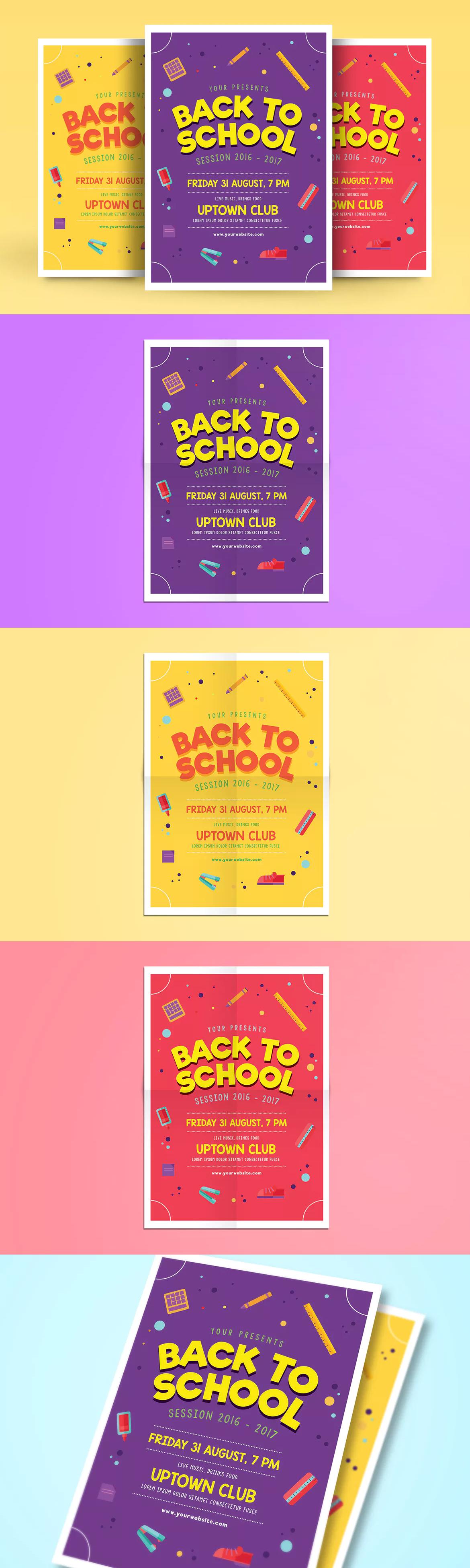Back to School Flyer Template AI, PSD A4 | Flyer Design Templates ...