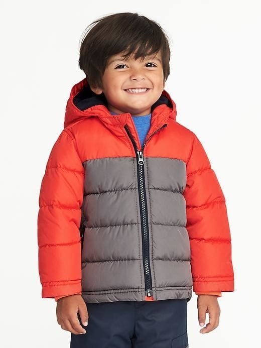 c714f6eb612c Color-Blocked Frost-Free Hooded Jacket for Toddler Boys