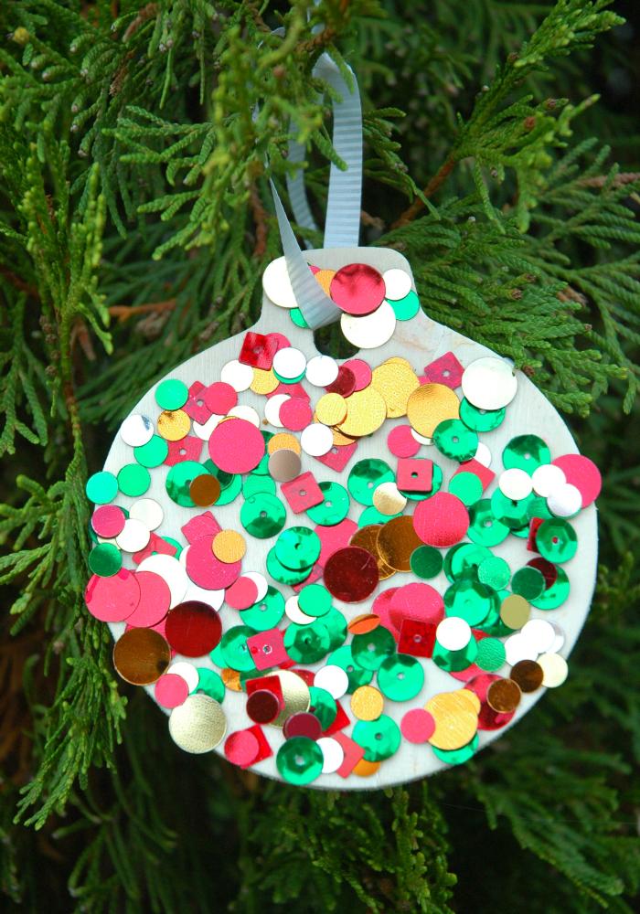 Sequin Ornaments Kids christmas ornaments, Christmas
