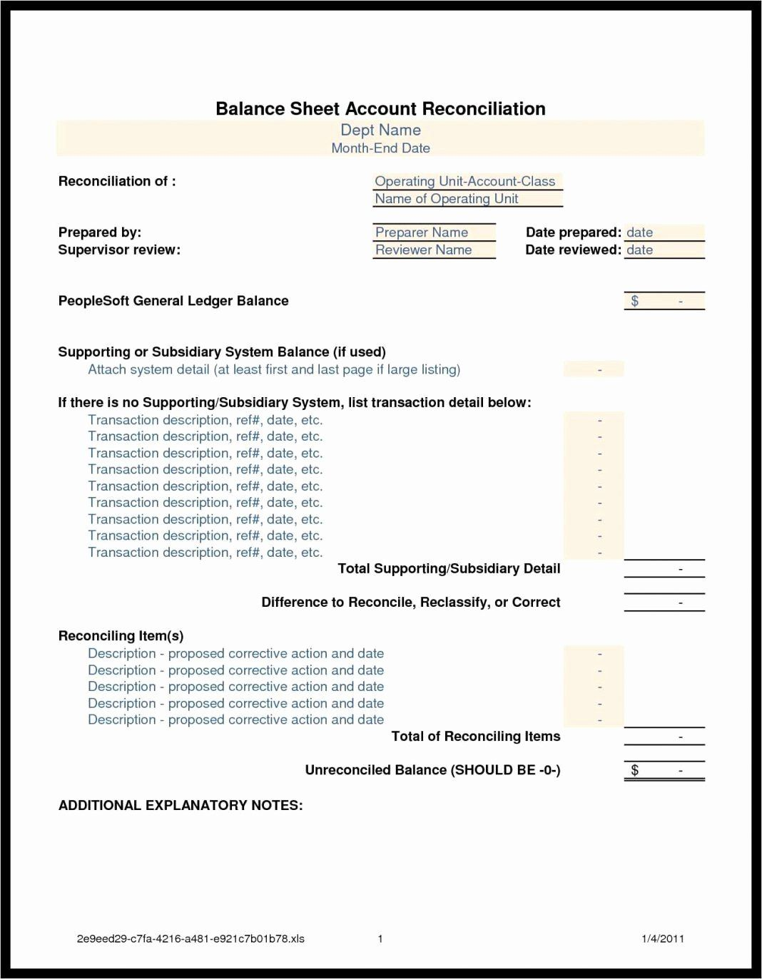 Shipping Label Template Free Awesome Balance Sheet Reconciliation Template Example Spreadsh Balance Sheet Reconciliation Account Reconciliation Label Templates