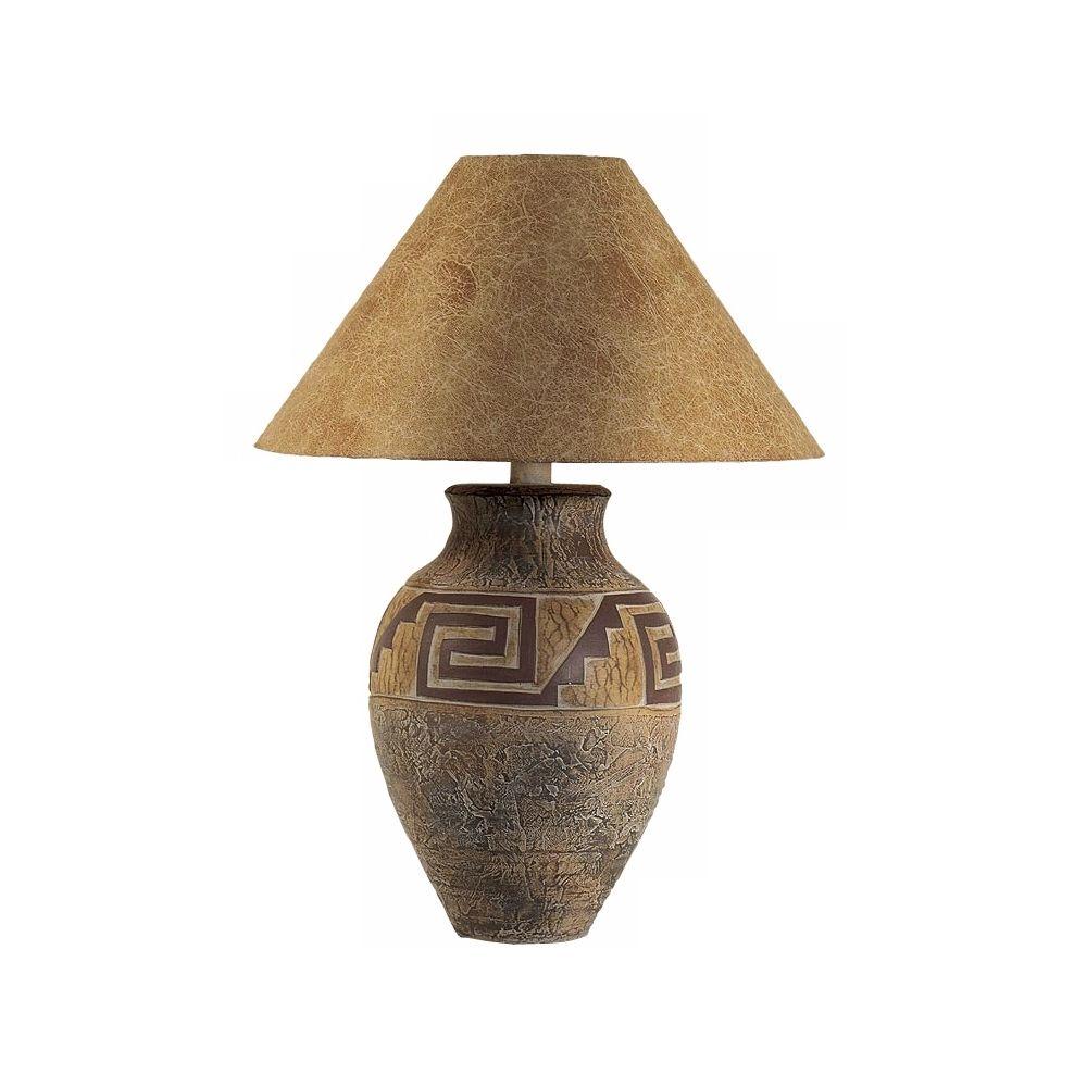 southwest pattern paprika shade table lamp style h1328 rh pinterest ca