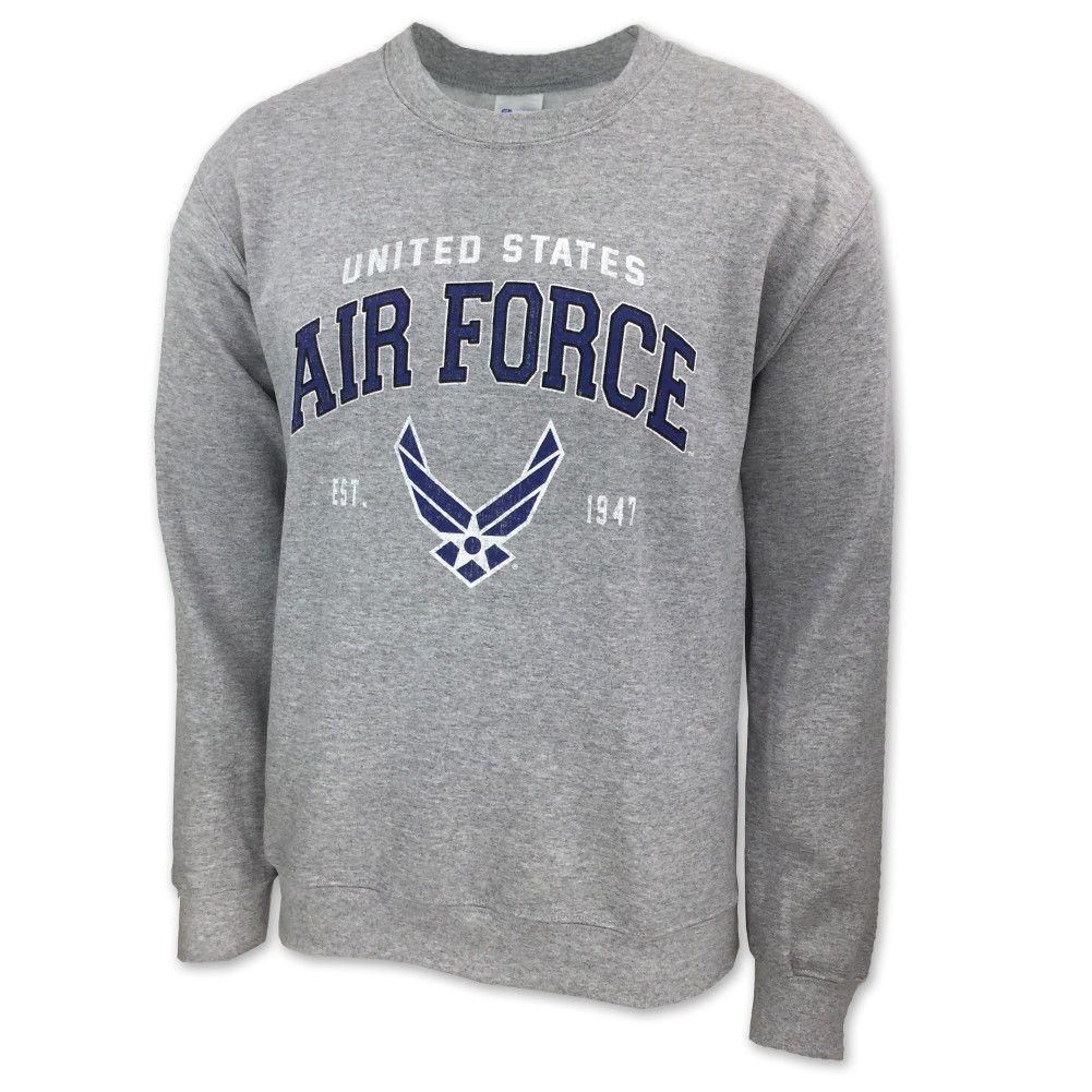 Air Force Wings Est 1947 Crewneck Sweatshirt Grey Crew Neck Sweatshirt Air Force Sweatshirt Sweatshirts [ 1001 x 1001 Pixel ]