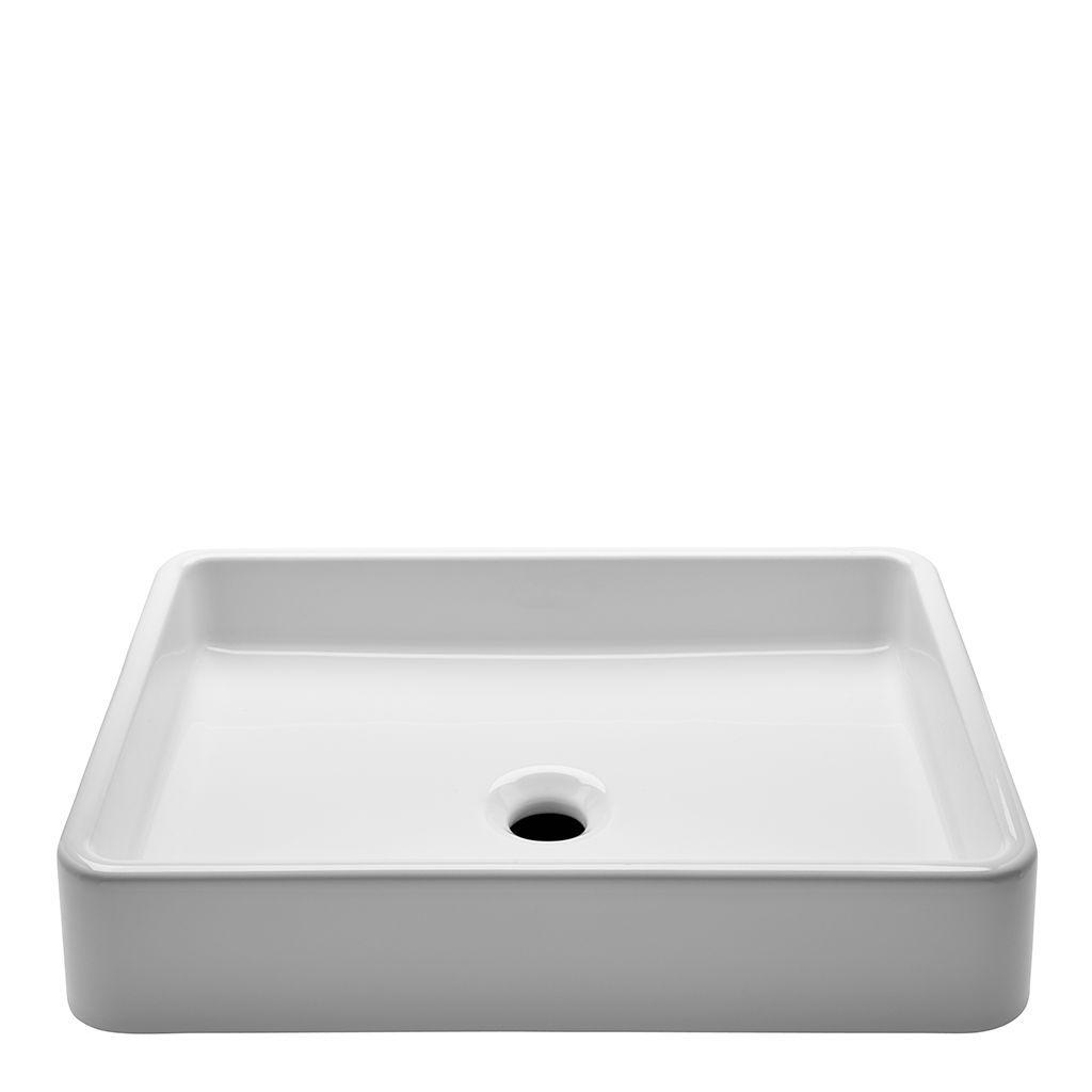 Discover Clara Vessel Rectangular Vitreous China Double Glazed Lavatory  Sink 20 1/2