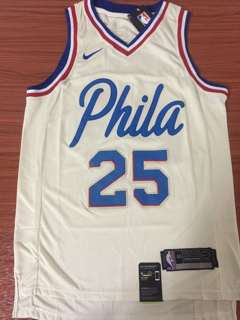 f0c6ad712 Men 25 Ben Simmons City Jersey White Philadelphia 76ers City Edition Jersey