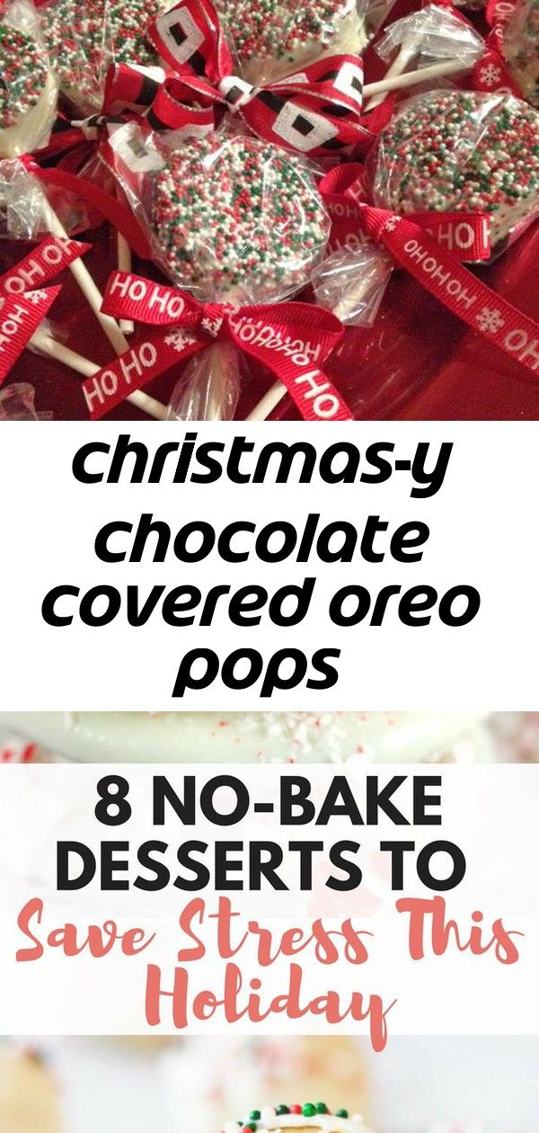 Christmas-y chocolate covered oreo pops #oreopops
