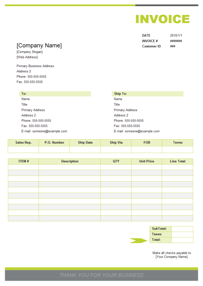 Sales Invoice Elegance Theme Form Pinterest Microsoft Word - How to create an invoice template in word