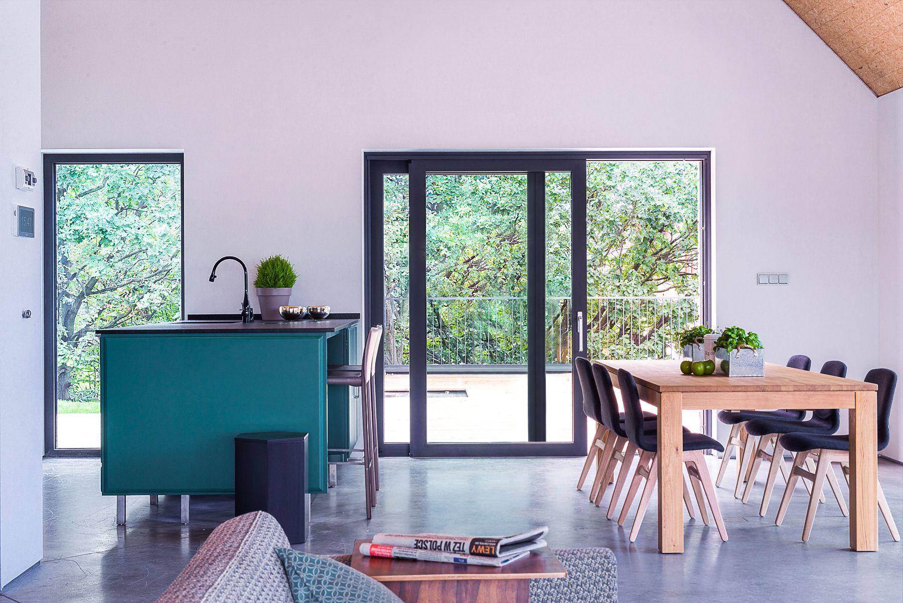 les baies coulissantes de oknoplast permettent un gain de. Black Bedroom Furniture Sets. Home Design Ideas