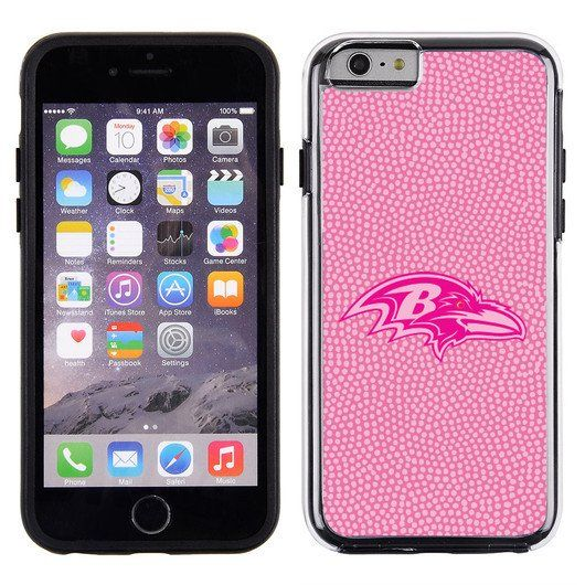 Baltimore Ravens Pink NFL Football Pebble Grain Feel IPhone 6 Case
