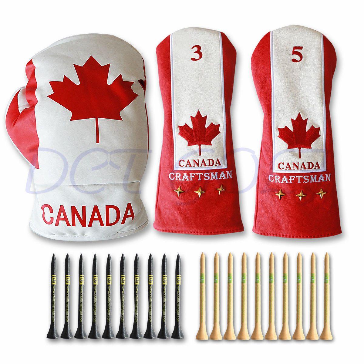 Canada Maple Golf Driver Head Cover Fairway Wood Golf