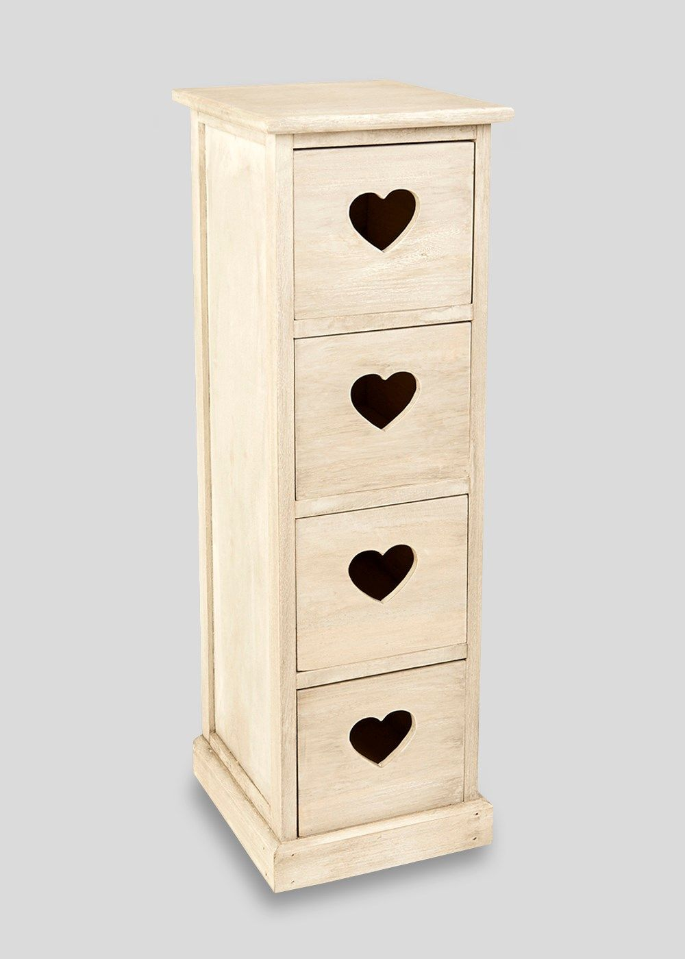 4 Drawer Wooden Storage Unit (80cm x 29cm x 25cm | Drawers, Drawer ...