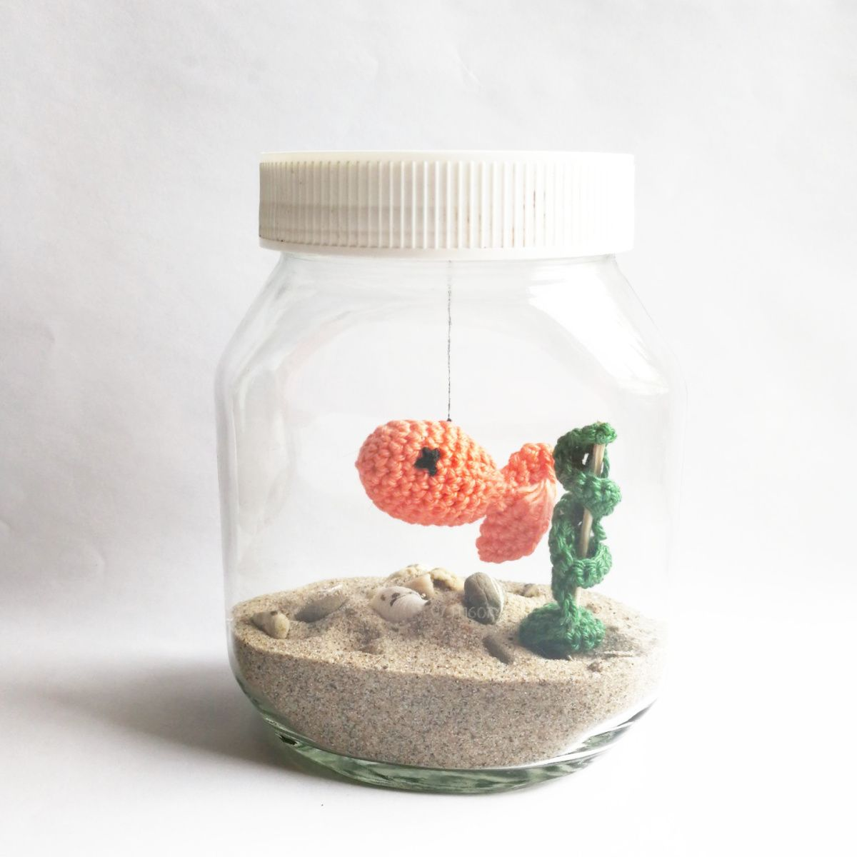 diy aquarium f r faule things i 39 ll crochet animals h keln basteln h keln ideen. Black Bedroom Furniture Sets. Home Design Ideas