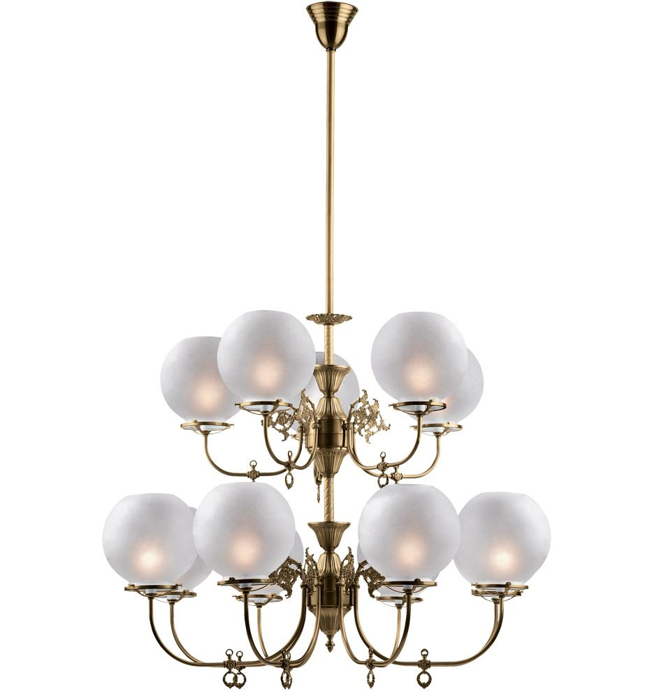 South S Late Victorian Gas Style Chandelier A5052