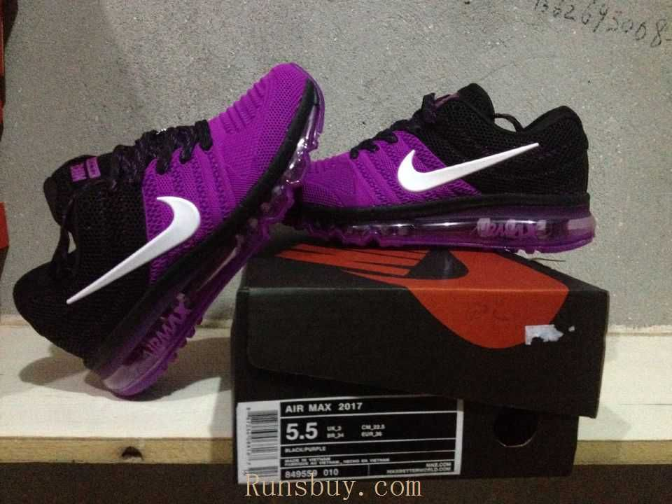 best loved 23008 fa6e9 New Coming Nike Air Max 2017 KPU Purple Black Women Shoes