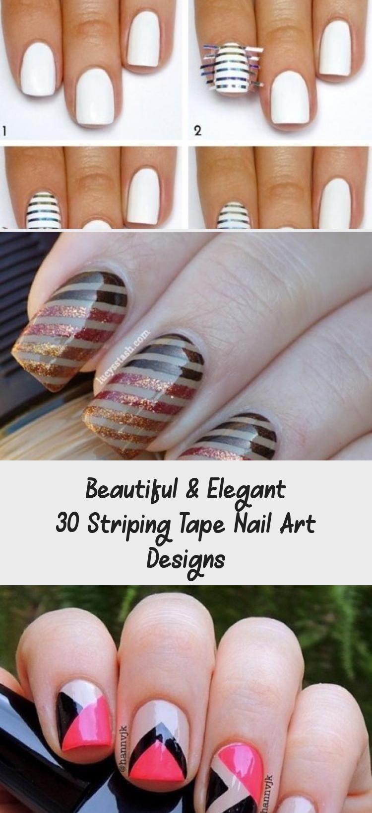 Beautiful Elegant 30 Striping Tape Nail Art Designs Tape Nail