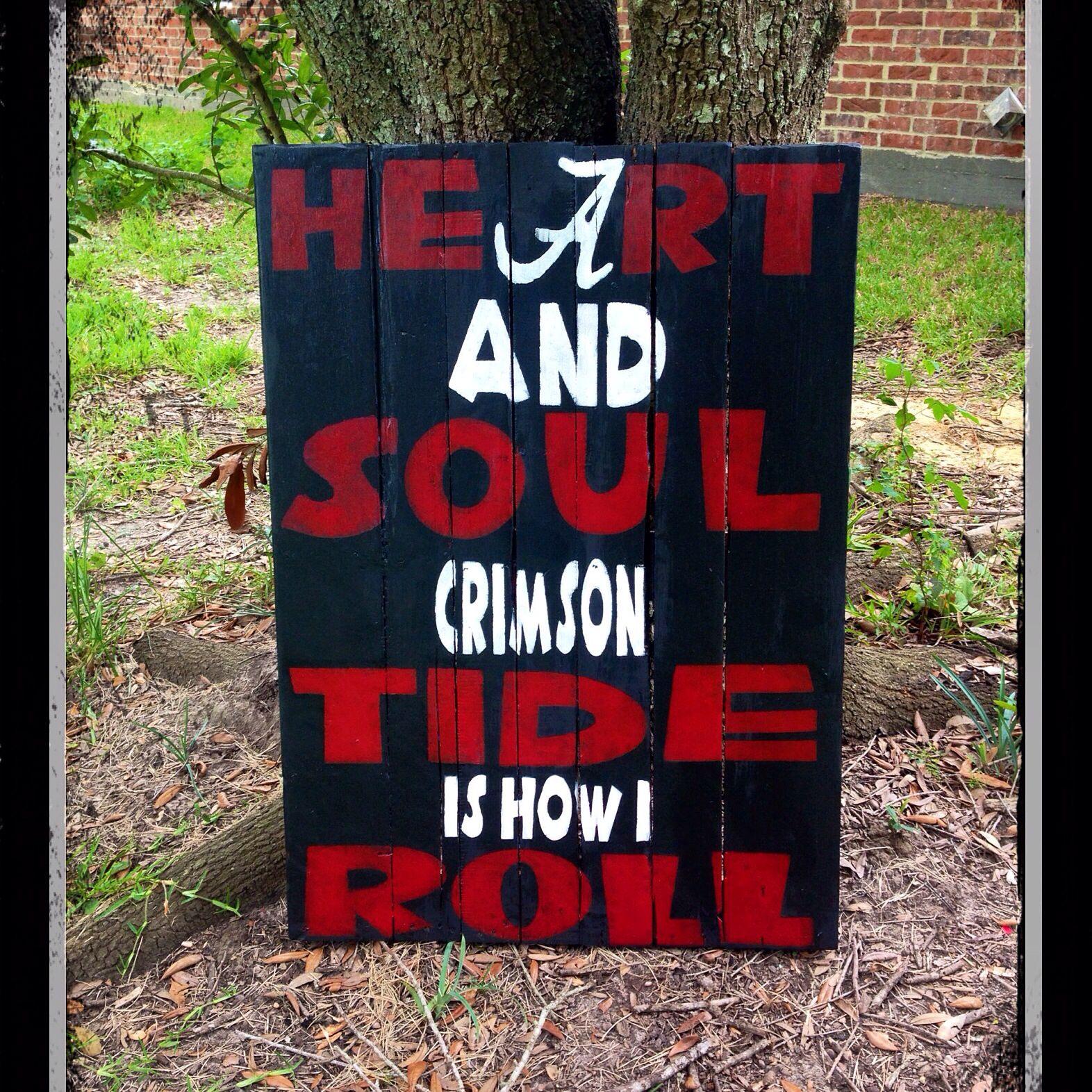 #roll #tide #alabama #pallet #sign.  Www.facebook.com/groups/tntdesigns/