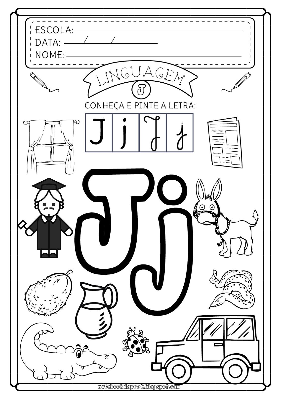 Atividades Letra J | educação infantil | Pinterest | Letras ...