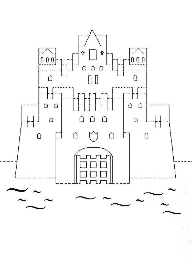Vorlage Architektur Schloss Paper Art Kirigami Papierarchitektur Origami Architektur